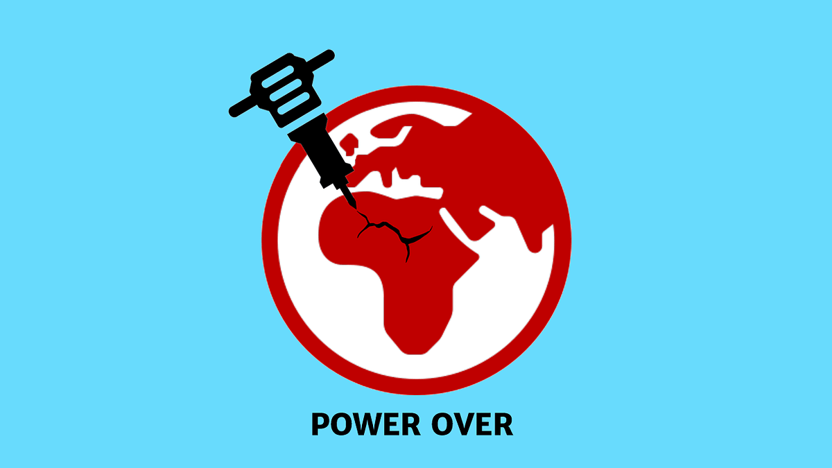 Diagram illustrating the concept of humans having power over the planet