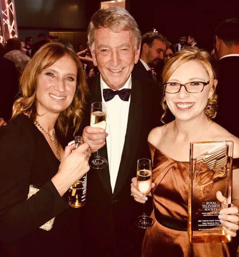 A smiling Abbie with her RTS award