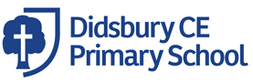 Didsbury CE logo with a cross superimposed on an elm tree