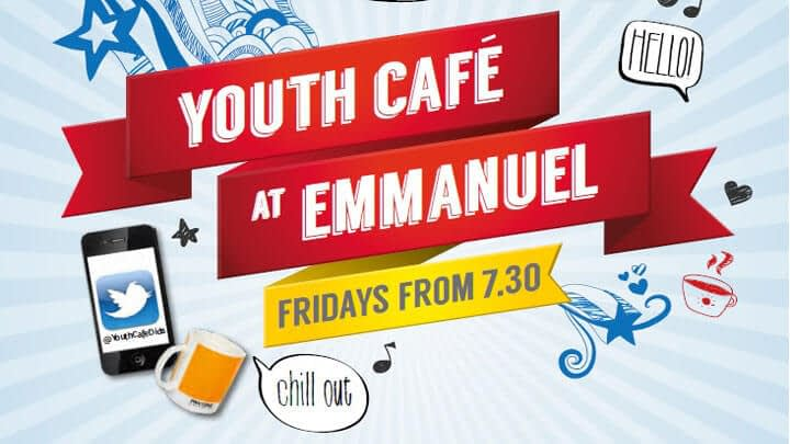 Poster advertising youth cafe