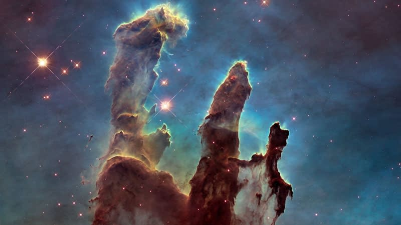Hubble telescope image: Pillars of Creation