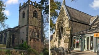 Exterior views of St James church and Emmanuel church