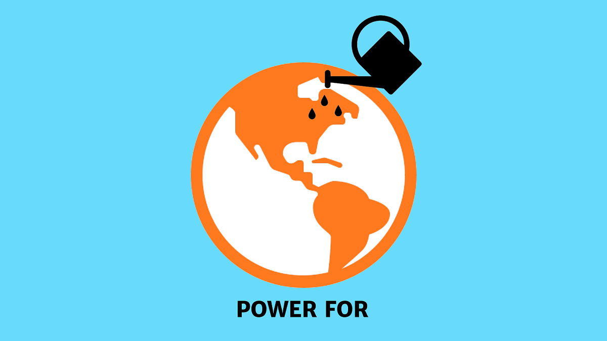Diagram illustrating the concept of humans having power for the planet