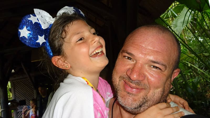 Trinity with her dad, James