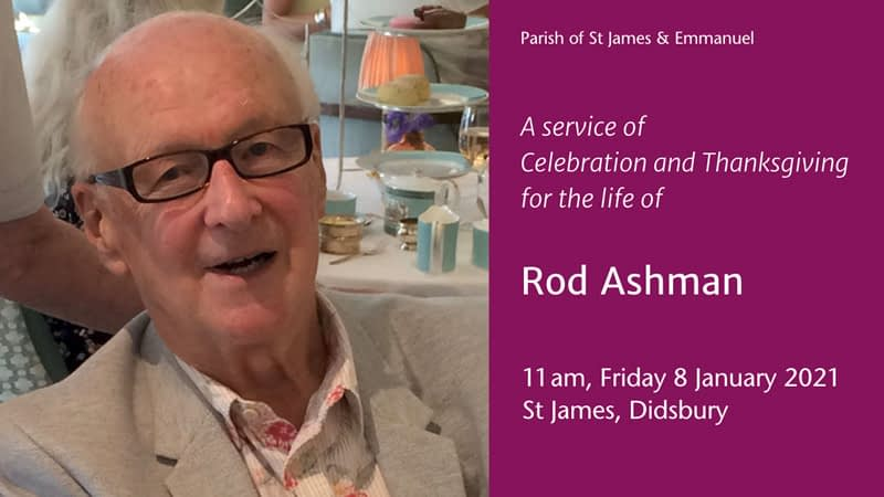 Rod Ashman funeral service poster