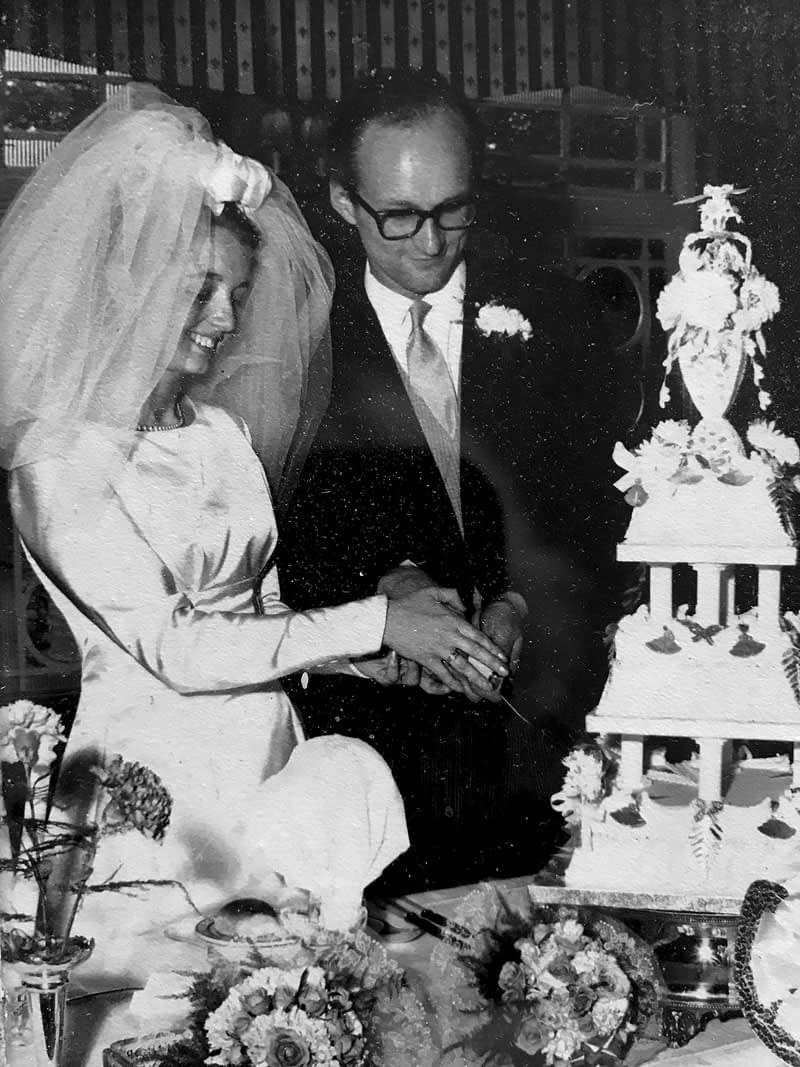 Rod and Dolly at their wedding